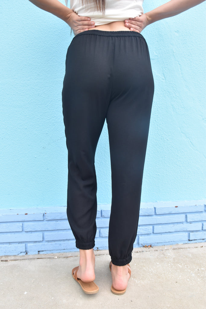 Black Lightweight Jogger Pant