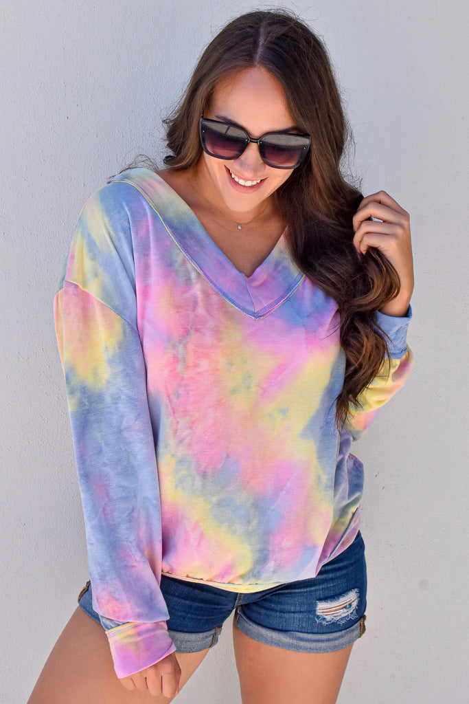 Daydreams Pastel V-Neck Top