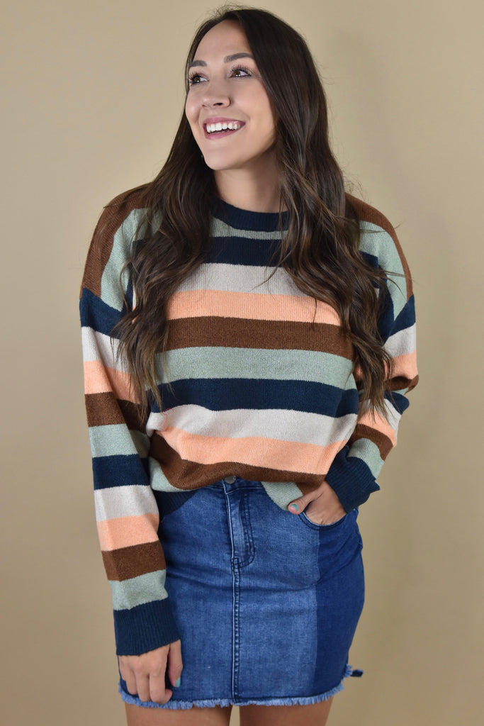 Classic Cozy Striped Sweater