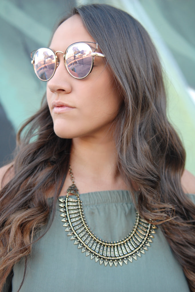 Glam in Gold Statement Necklace