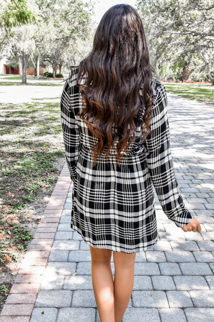 Take Me on A Hayride Plaid Dress