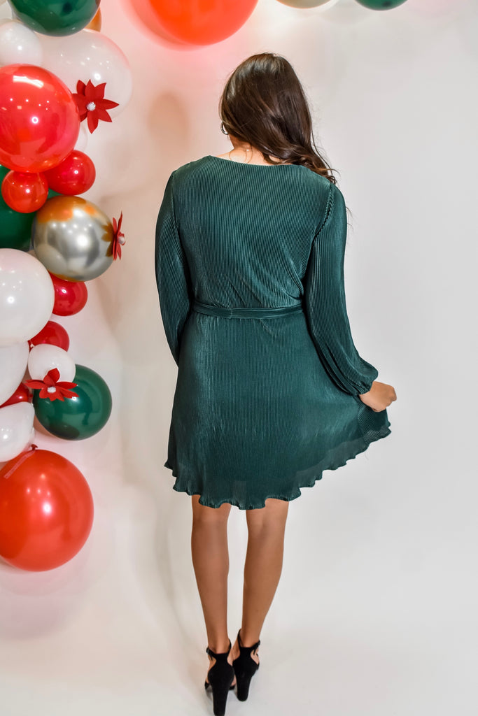 Christmas Eve Magic Dress- Green - Vogue Society