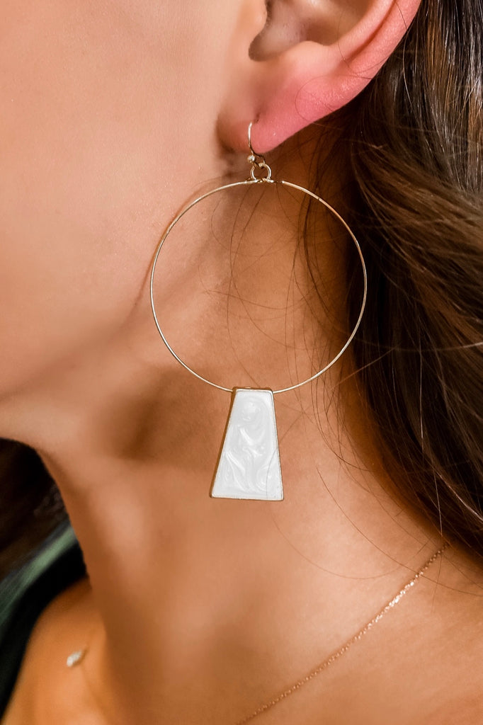 The Modern Lady Dainty Hoops- Ivory