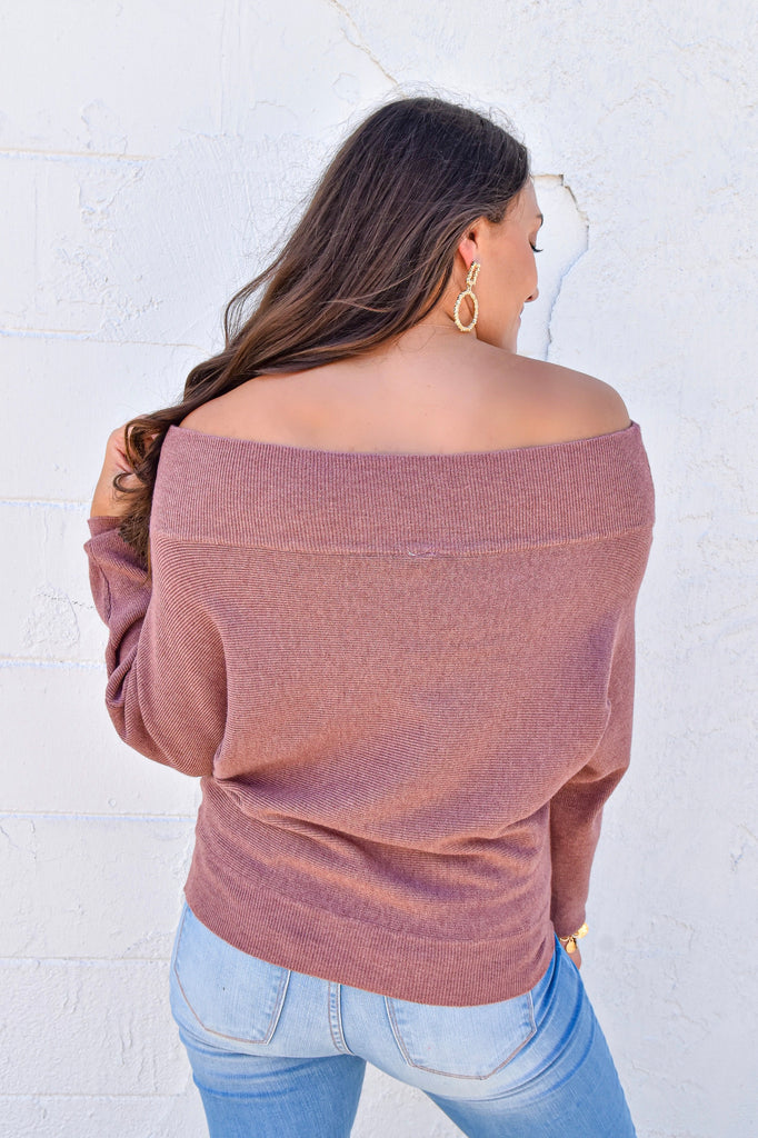 The Aspen Sweater- Mauve