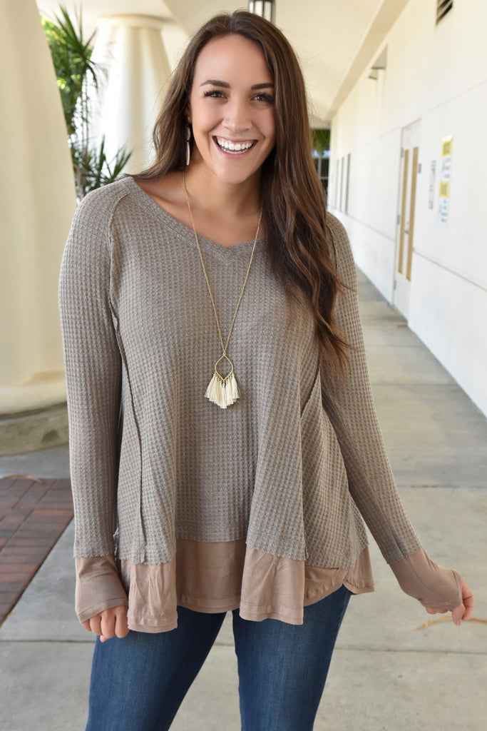 Warm Mocha Soft Knit Thermal