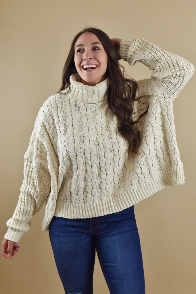 Candles Lit & Cable Knit Sweater