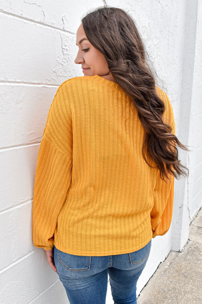 September Skies Lightweight Sweater- Mustard