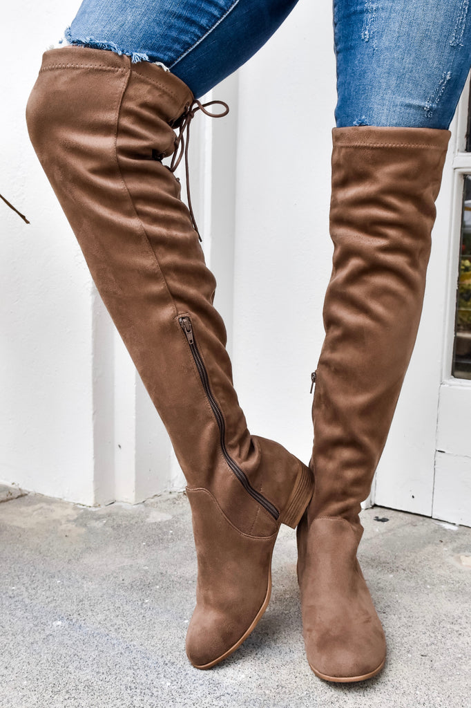 Alpine Over The Knee Mocha Boots