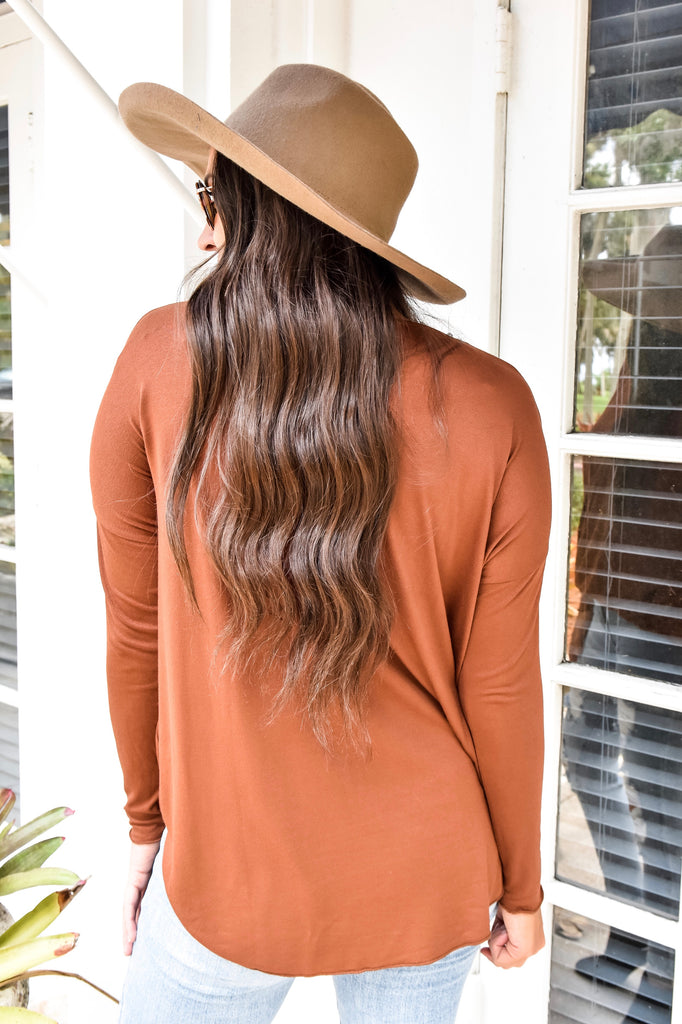 Hazelnut Crossover Top