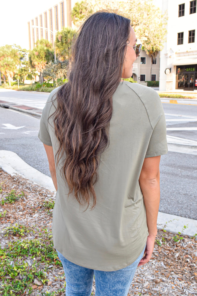 The Blair Tee- Olive - Vogue Society