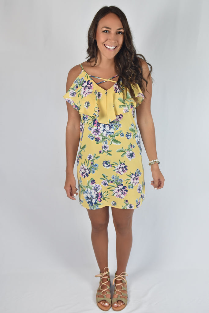 Annabelle Dress- Yellow