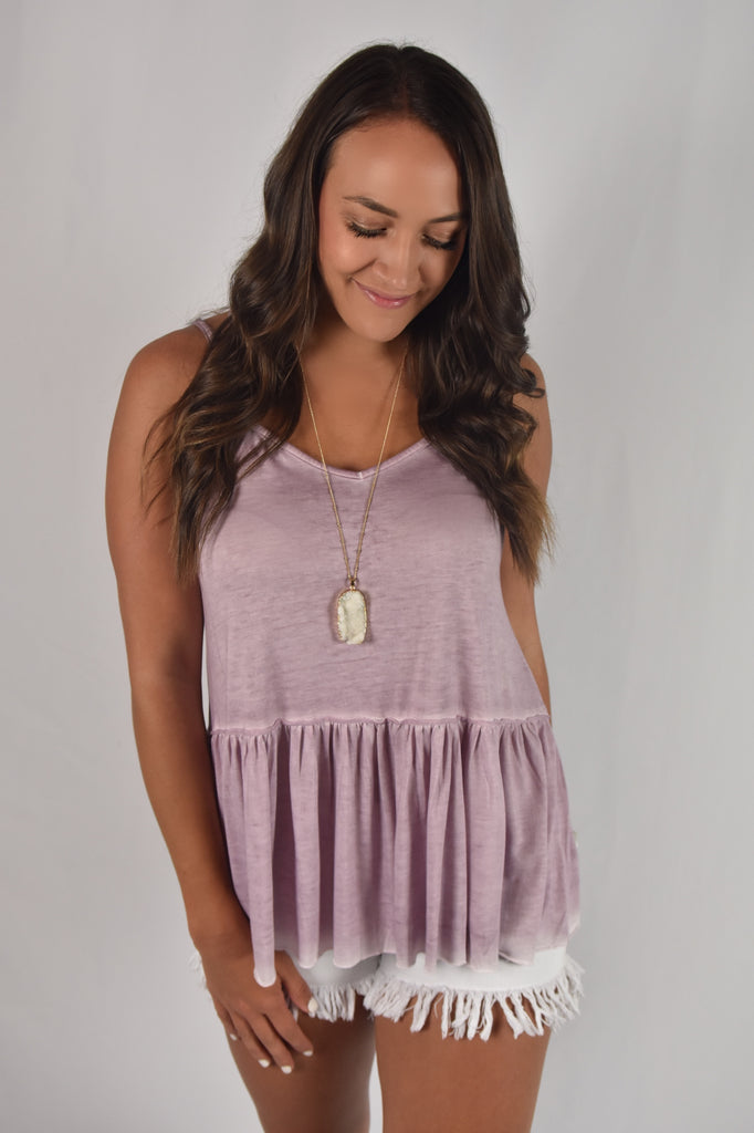 Dusty Lavender Washed Tank