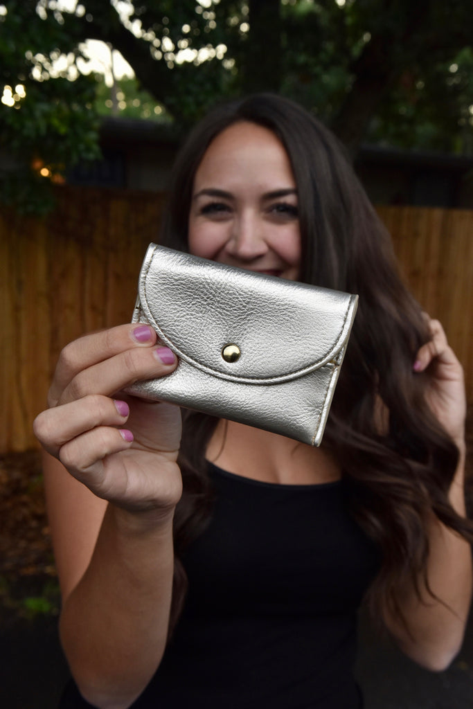 The Glam Mini Wallet- Gold
