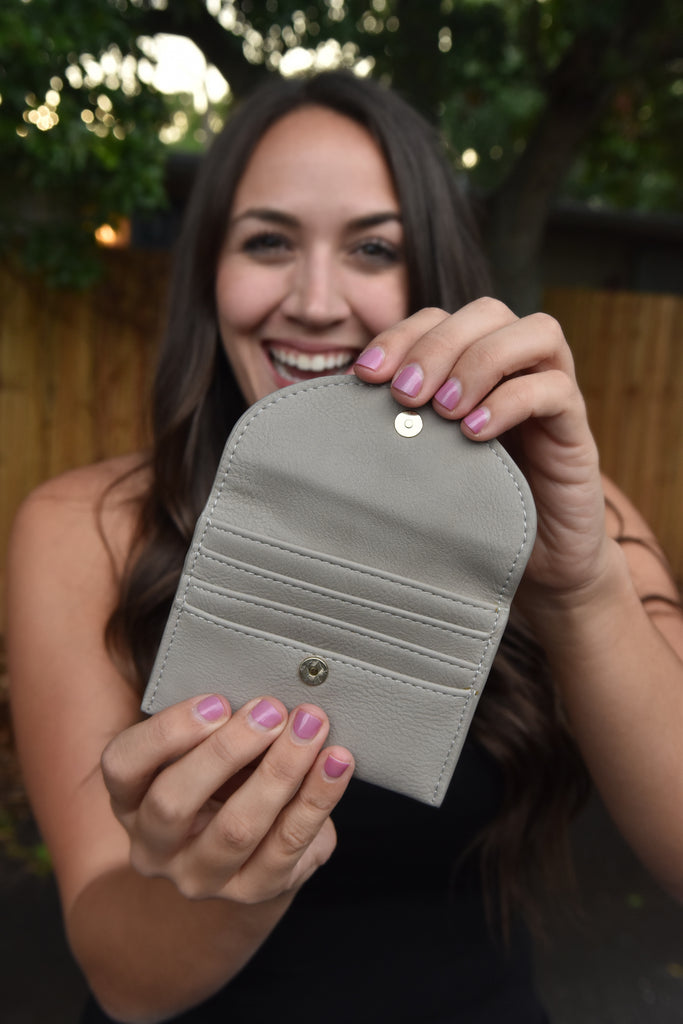 The Glam Mini Wallet- Beige