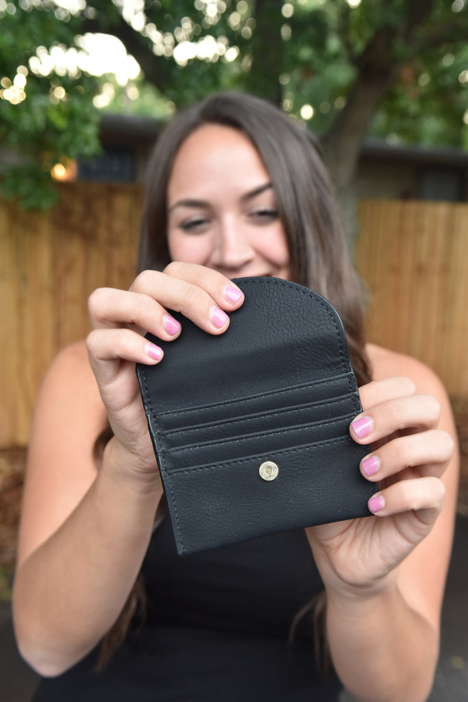 The Glam Mini Wallet- Black