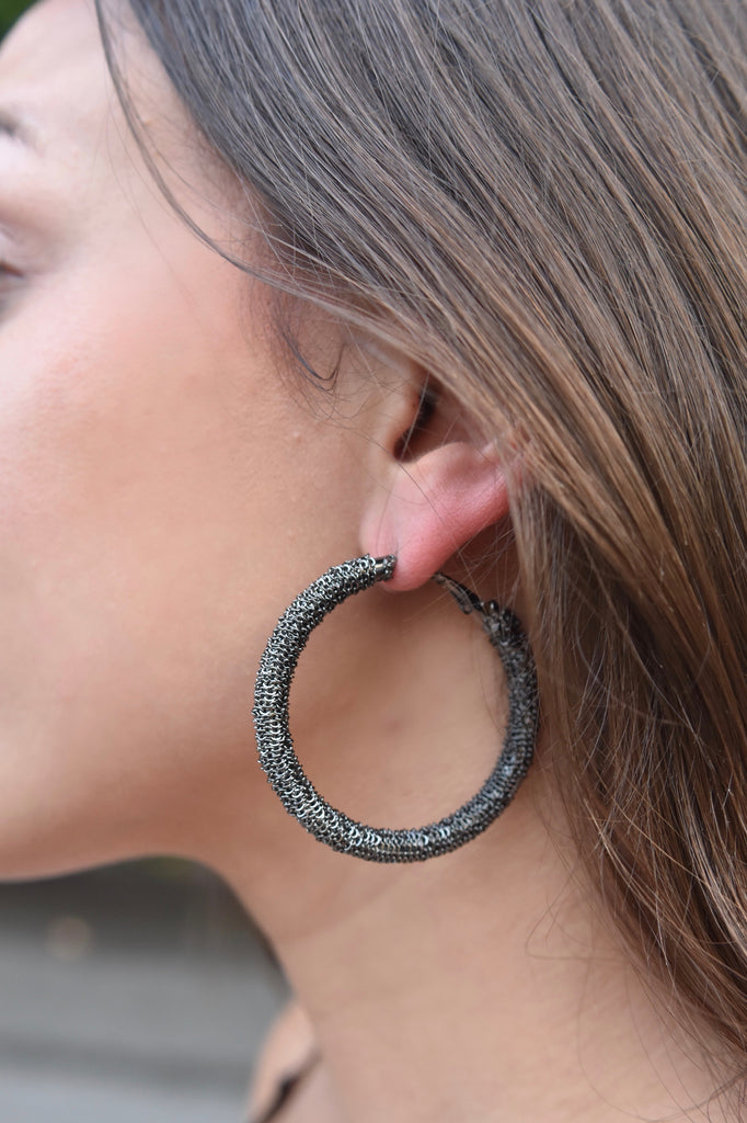 New Age Grey Sparkle Earring