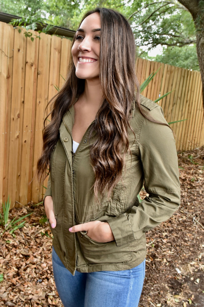 Perfect Day Olive Jacket