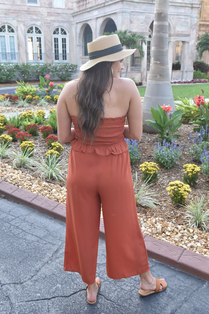 Newport Cliffs Two-Piece Set- Rust