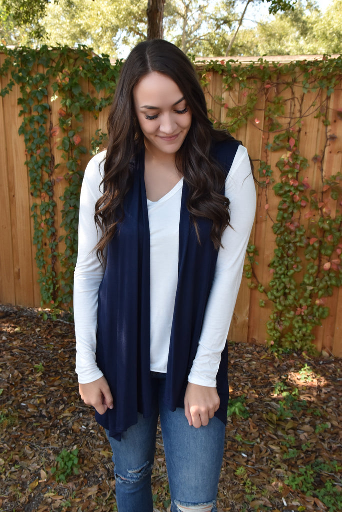 Basic Layering Vest- Navy