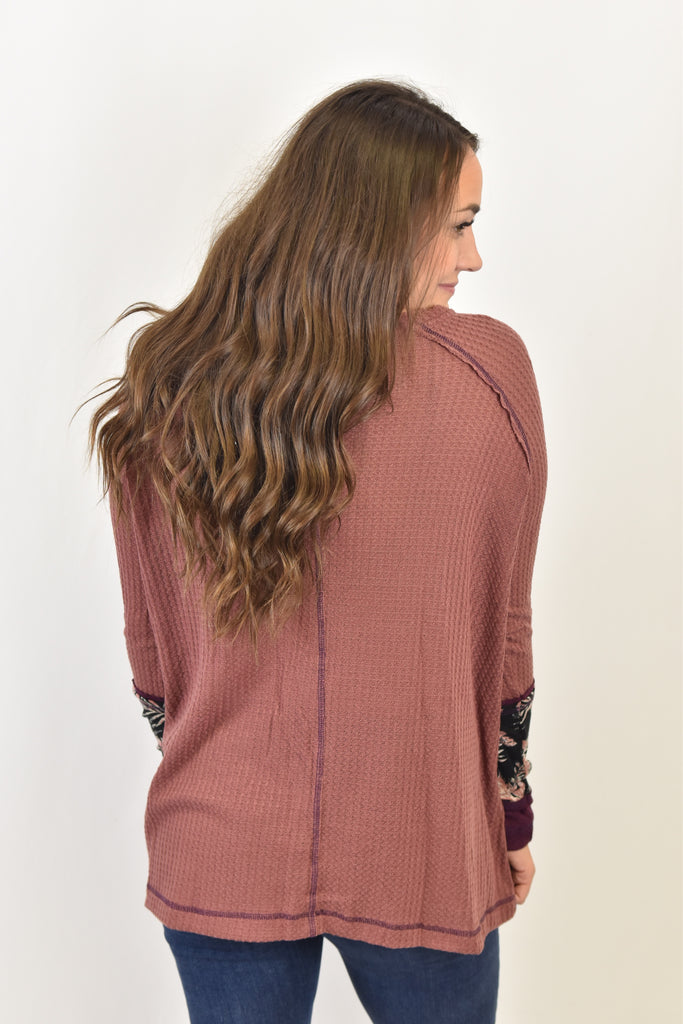 The Alana Thermal-Mauve