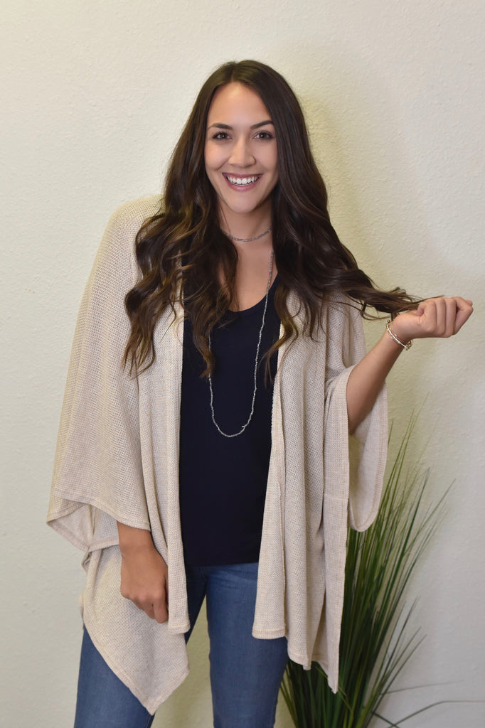 Daydreamer Cardigan- Taupe
