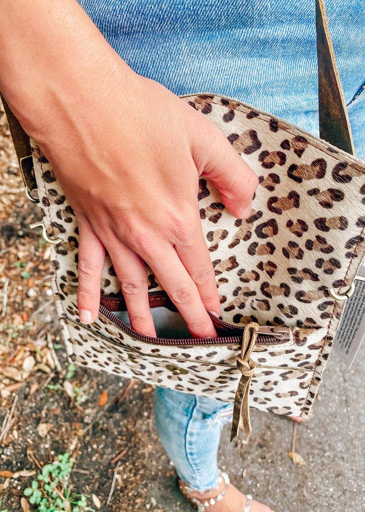 Leopard Authentic Repurposed Louis Vuitton Crossbody Bag - Vogue Society