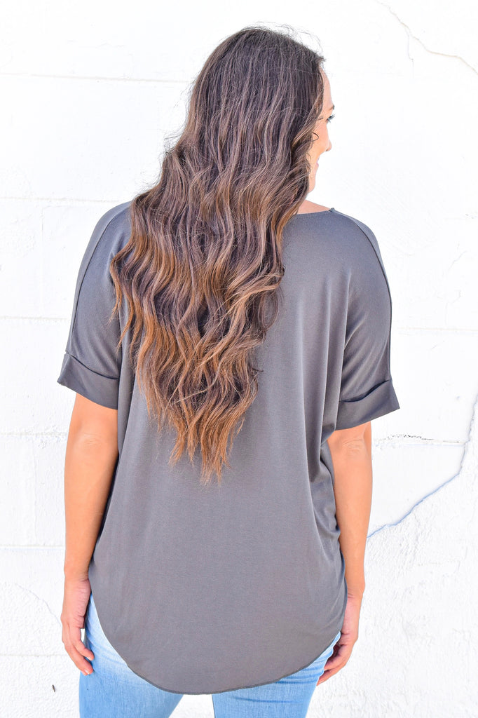 The Olivia Crossover Top - Olive