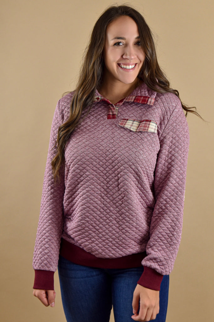 Give Thanks Elbow Patch Pullover