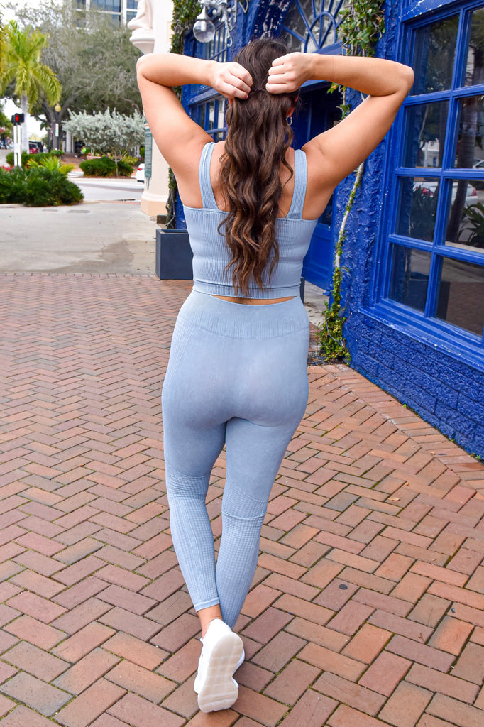 The Nikki Leggings- Sky Blue - Vogue Society