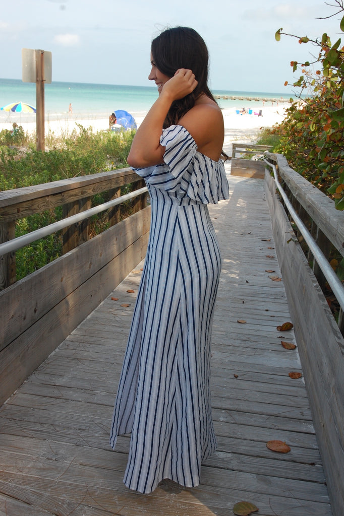 Cocktails By the Sea Maxi Dress with Shorts