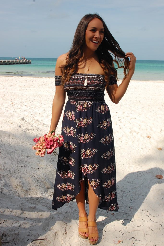 Just Perfect Navy Maxi