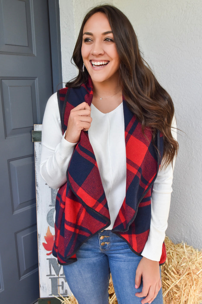 Traditions at Home Buffalo Plaid Vest