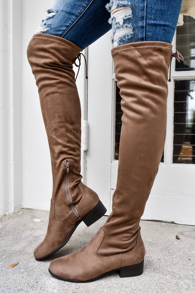 Laurel Over The Knee Mocha Boots