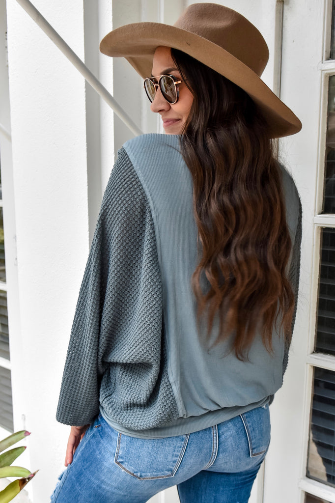 The Hudson Teal Top