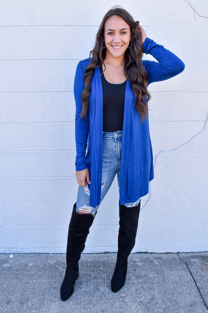 Soft & Sweet Cardigan- Royal Blue