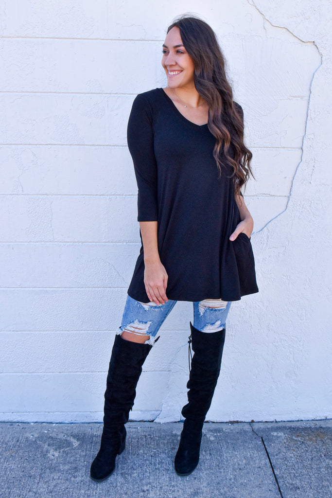 The Perfect Pocket Top- Black