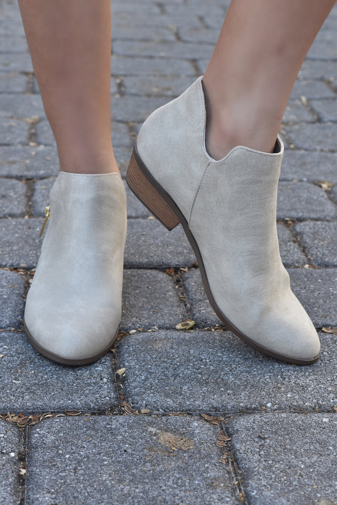 Samantha Stone Bootie with Zipper