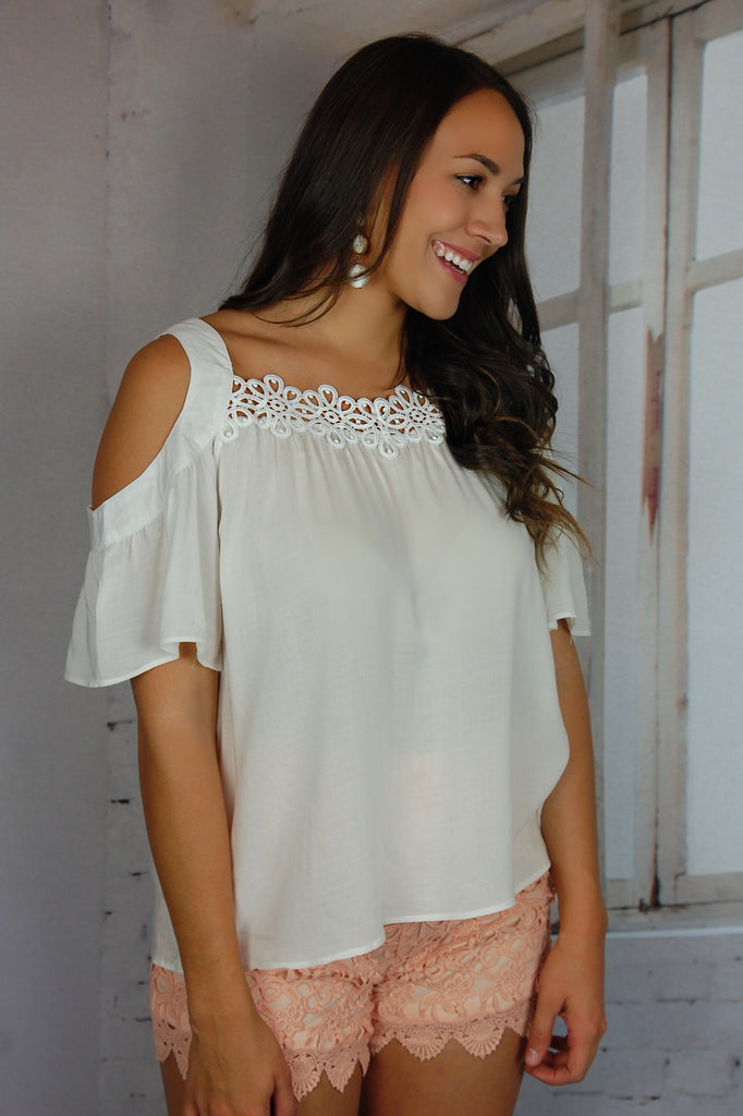 Free My Heart Cold Shoulder Top