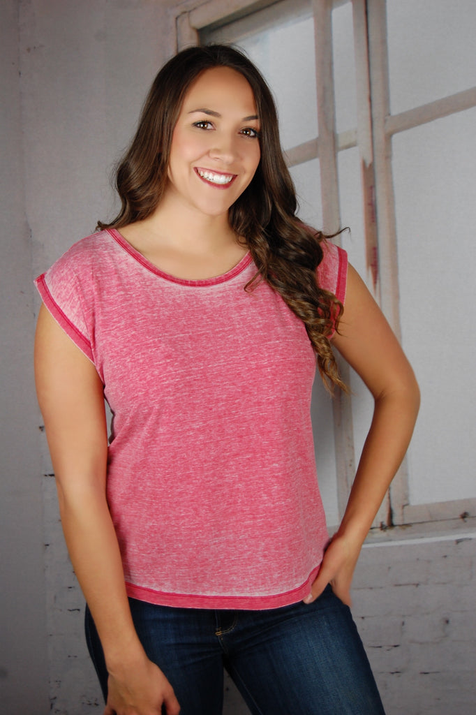 Soft Breeze Washed Pink Tee