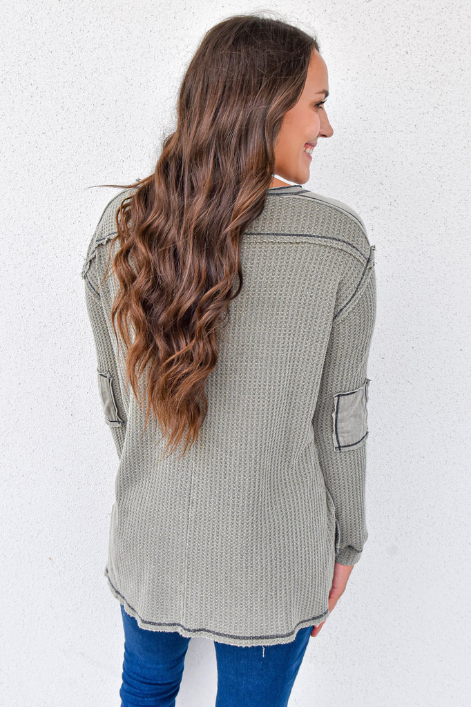 The Stone Wash Thermal- Olive