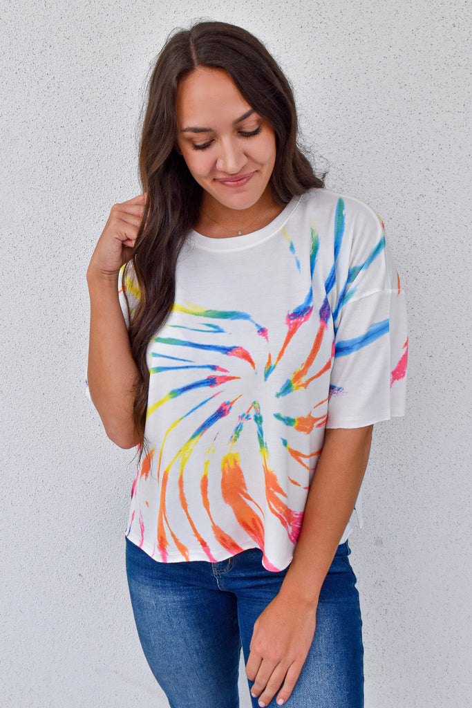 The Poolside Tee - Rainbow