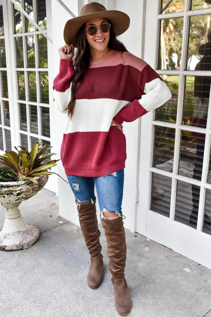 Moscatos Striped Sweater