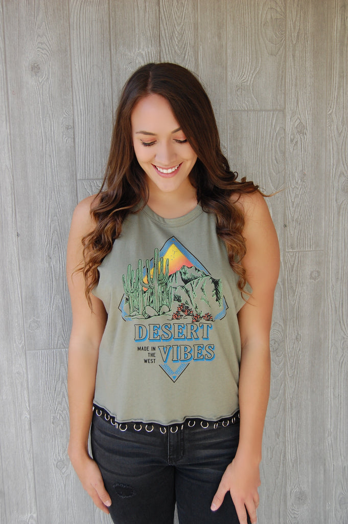Desert Vibes Tank with Circle Details