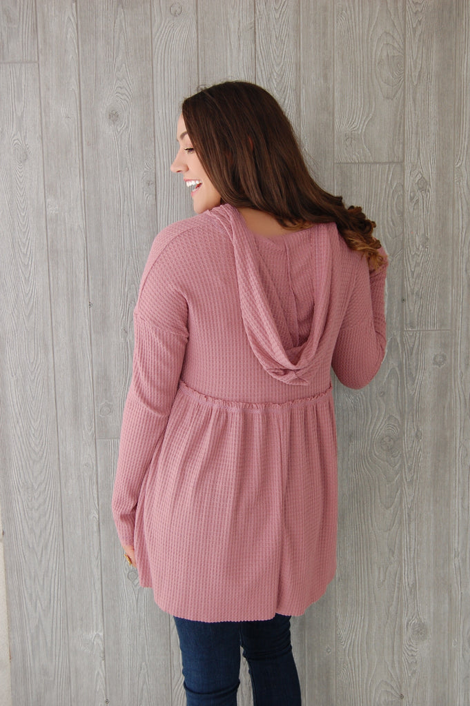 Fell In Love Hooded Thermal- Soft Pink