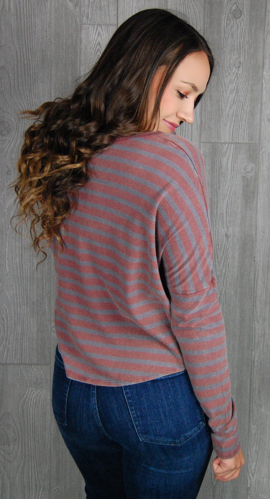 Well Wishes Striped Long Sleeve