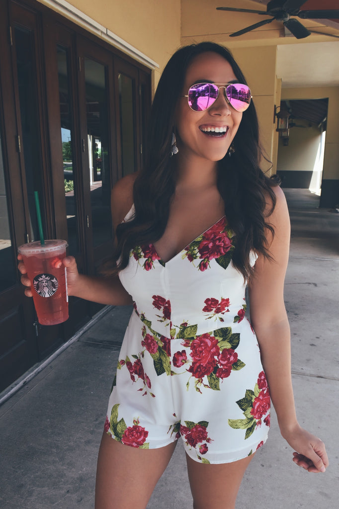 Royal Temptations Romper- DARK PINK
