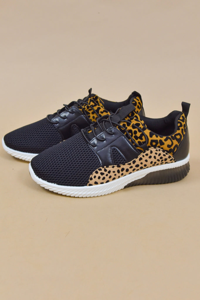 Lace Up Leopard Sneakers