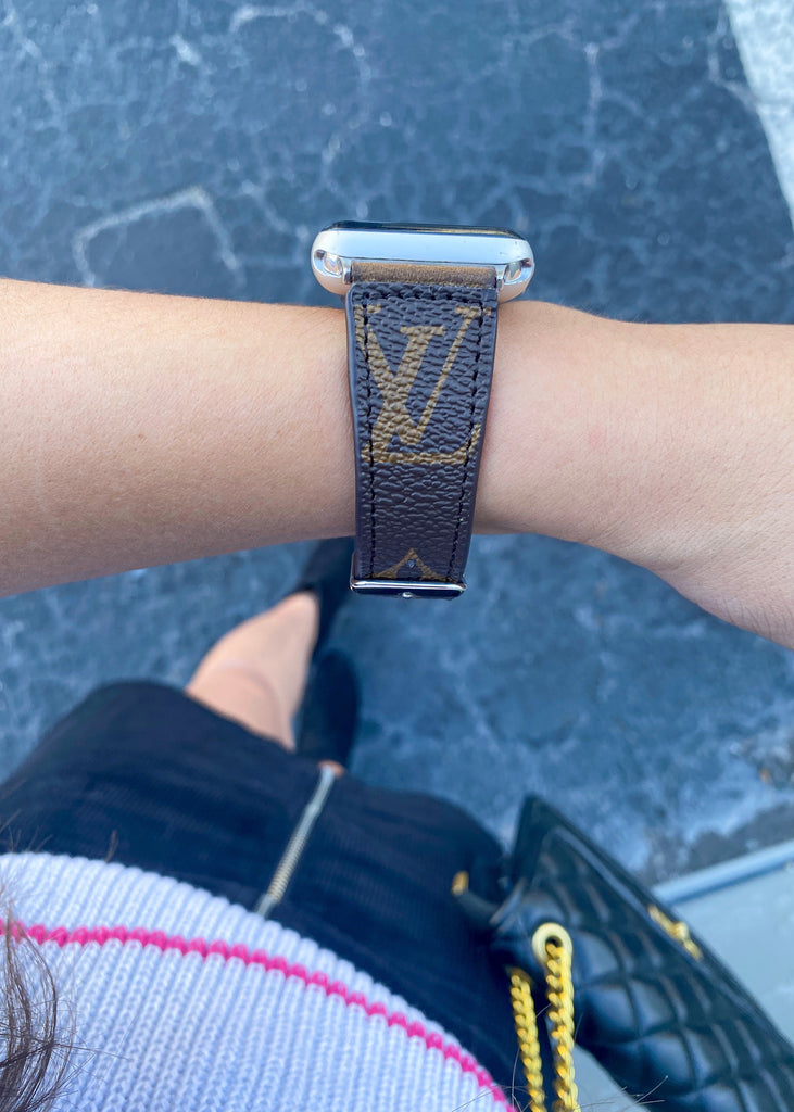 Authentic Louis Vuitton Repurposed Apple Watch Band