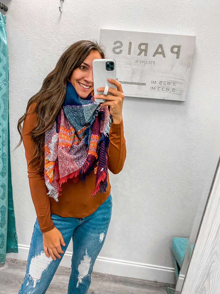 Bright Night Scarf- Dark