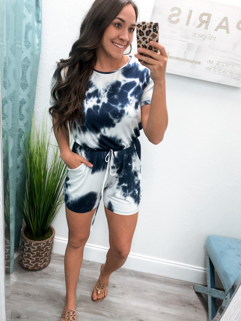 Blue Wave Romper